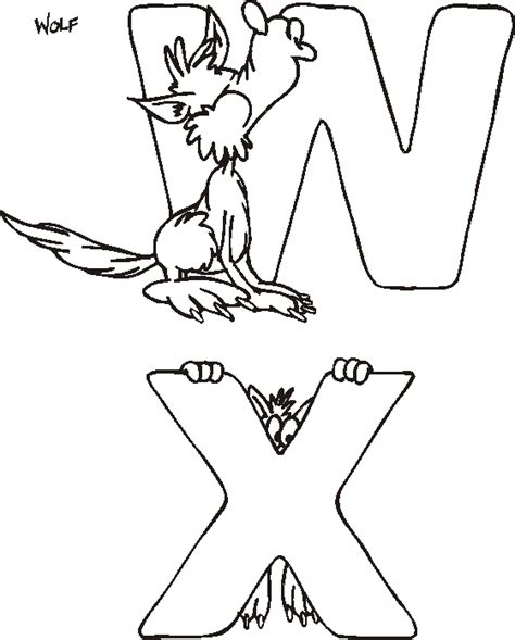 coloring pages for kids animal alphabet coloring pages
