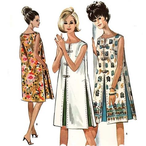 pattern shift dress vogue vintage 1960 s shift dress sewing pattern love the