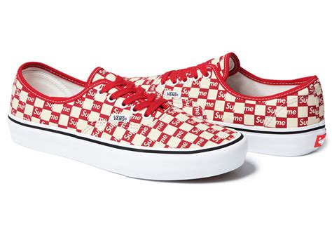 supreme vans supreme x vans checkerboard pack sneaker bar detroit