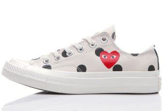 Converse 1970s Cdg Play Low Black White converse 1970s comme des garcons polka dot play white low chuck all shoes