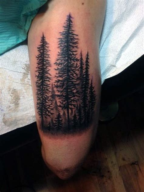 lower leg pine tree tattoo for men tattoos pinterest