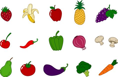 fruits and vegetables clipart fruits and vegetables clipart clipartion