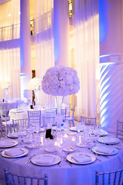 Chic Classic Silver and White Wedding   Wedding   Wedding