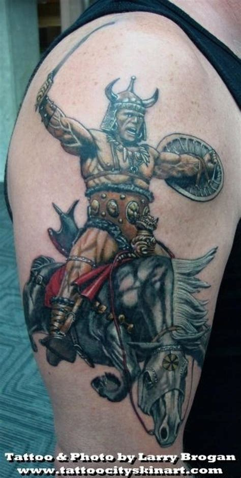 larry tattoos frank frazetta berzerker by larry brogan tattoos