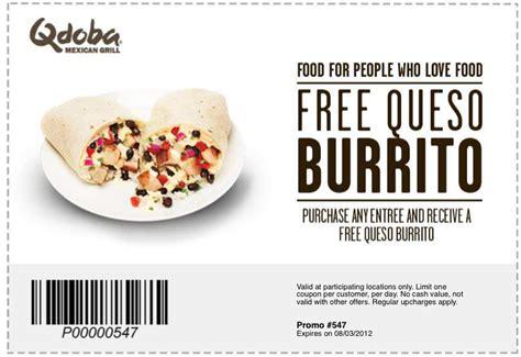 qdoba printable catering menu qdoba free queso burrito printable coupon