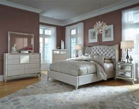 bedroom sets for aico hollywood loft frost upholstered platform bedroom set 9001600qnbed 104