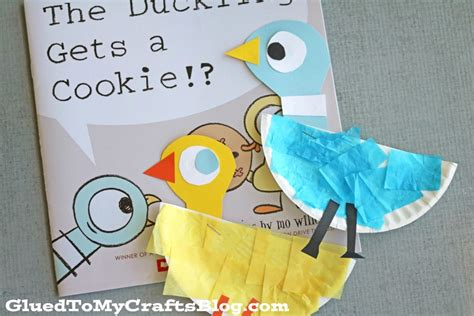 Pigeon Papercraft - paper plate pigeon duckling kid craft glued to my crafts