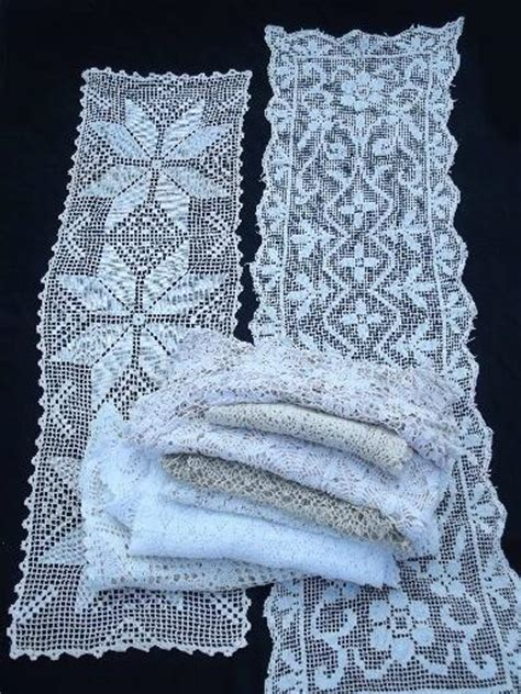 Dresser Scarves And Runners by Lot Vintage Lace Table Linens 10 Different Runners And