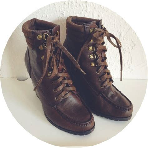 Wedges Bb 08 M0ca 41 forever 21 boots lace up wedge booties from cammie s closet on poshmark