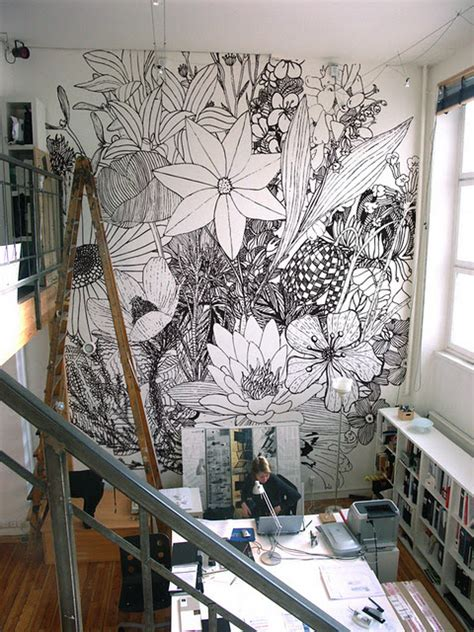 paint by number wall murals for adults friday design finds if these walls could draw artsy forager