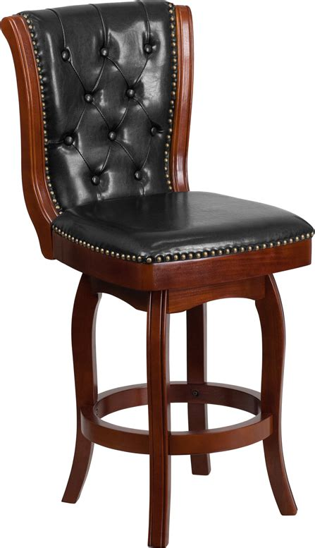 Black And Cherry Bar Stools by 26 High Cherry Wood Counter Height Stool With Black