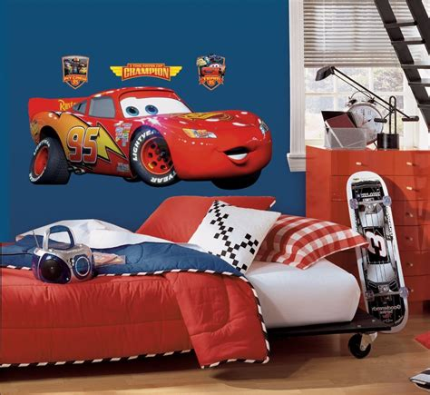 Disney Cars Wall Decals roommates rmk1518gm disney pixar cars lightning mcqueen