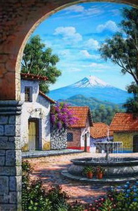 imagenes de paisajes antiguos im 225 genes arte pinturas paisajes de casas antiguas pinturas