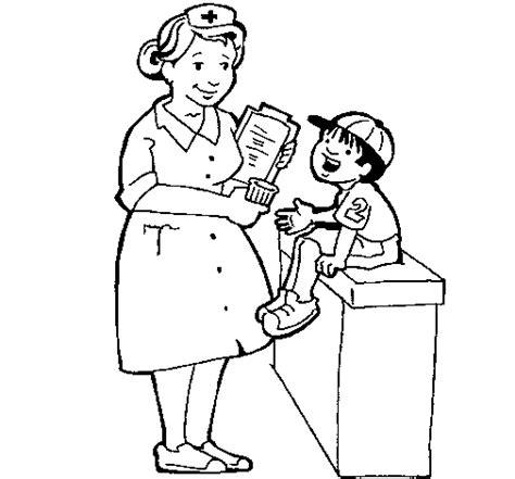 boy nurse coloring page nurse and little boy coloring page coloringcrew com