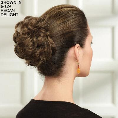 short hairstyle using a pony tail type piece ponytail hairstyles wrap hair pieces paula young