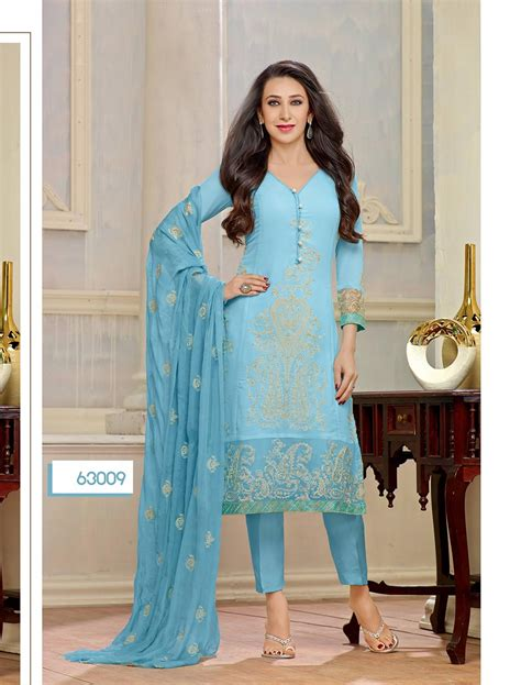 latest designer plazo suits thankar new designer sky blue straight plazo suit lowest