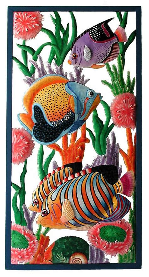 tropical fish home decor best 25 tropical outdoor wall art ideas on pinterest