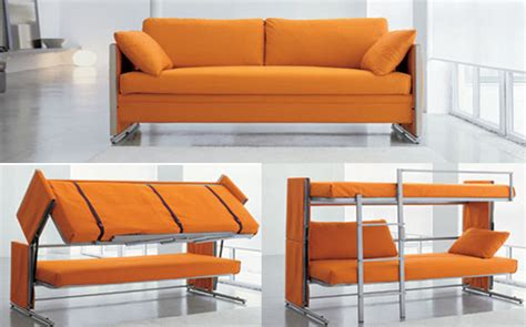 bed in a couch bonbon s brilliant doc sofa transforms into a bunk bed in