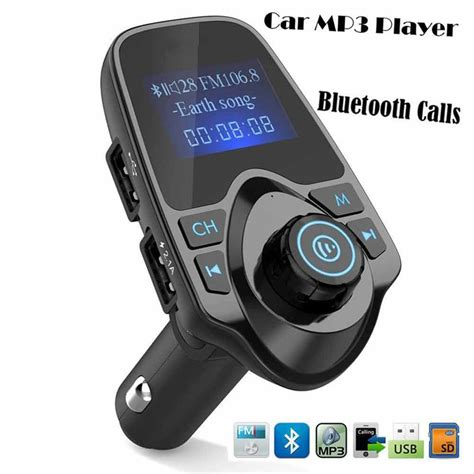 Bt11 Wireless In Car Bluetooth Kit Fm Transm eincar bluetooth car mp3 player fm transmitter with dual usb 5v 2 1a usb charger