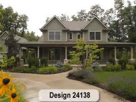 farmhouse home plans from design basics llc youtube