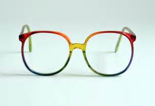colorful glasses 80s oversized rainbow glasses plastic eyeglasses frames