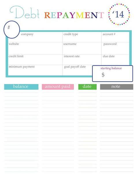 home management bundle  printables tnt debt