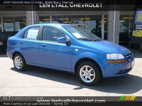 bright blue  chevrolet aveo ls sedan charcoal