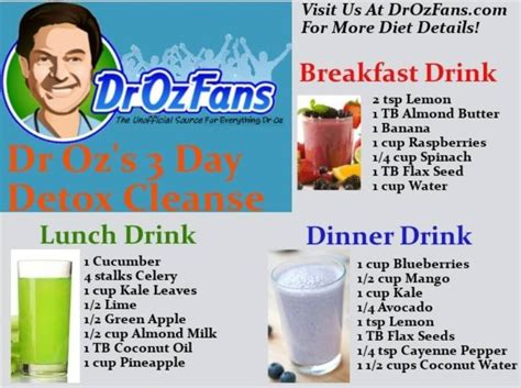 Juice With Drew 5 Day Detox by Dr Oz S 3 Day Detox Cleanse Looking For Juice Wonders To