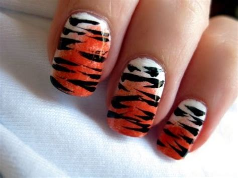 tiger pattern nail art tiger nail art youtube