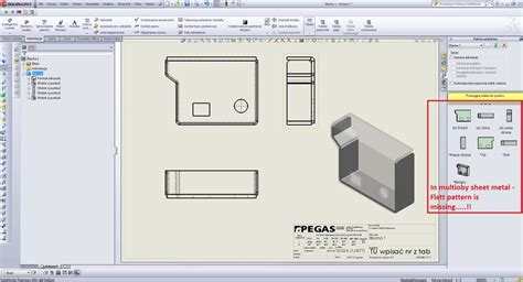 pattern drawing in solidworks how to make a flatt pattern drawing 2d of multibody sheet