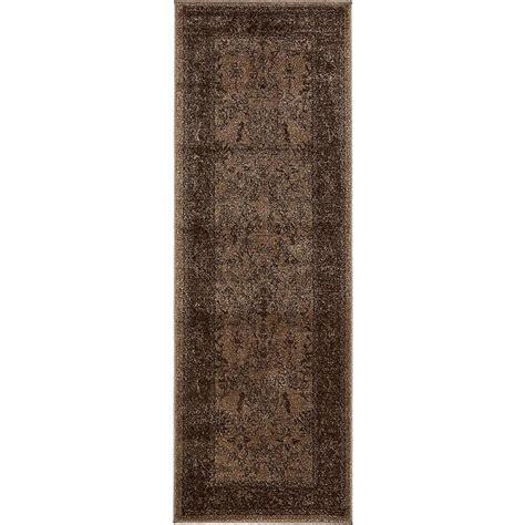 6 foot runner rug unique loom la jolla brown 2 ft 2 in x 6 ft runner rug 3137281 the home depot