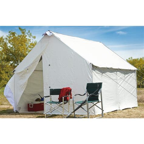 white canvas wall tent 10 x14 canvas wall tents durable guide gear canvas wall tent 10 x 12 175423 outfitter