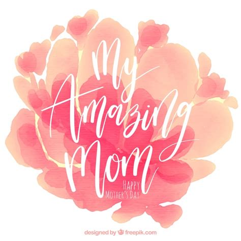 mothers day mother s day background with watercolor stains in pink