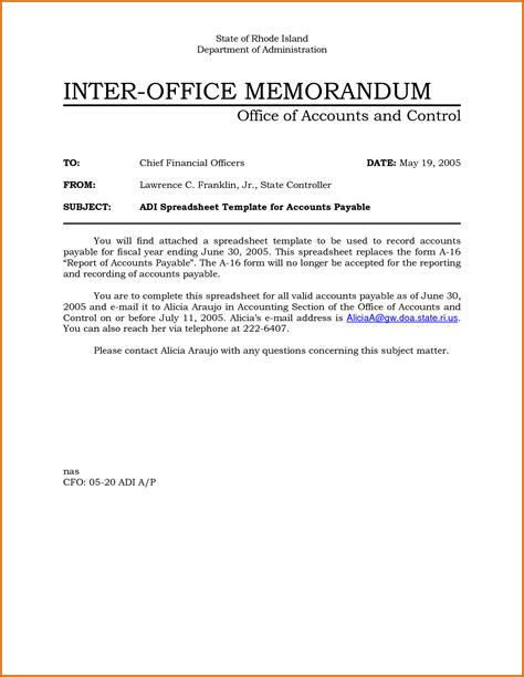 official memo template 5 office memo format lease template