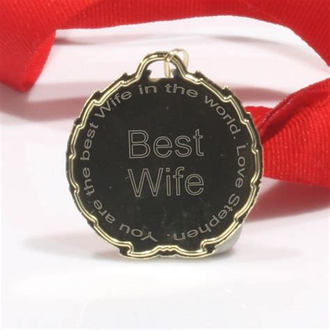 best wife gifts best wife medal the gift experience