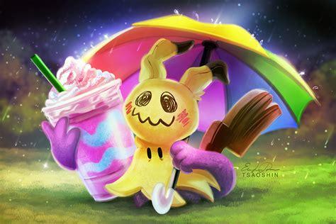 mimikyu by tsaoshin deviantart on unicorn frappuccino mimikyu paint along by tsaoshin on