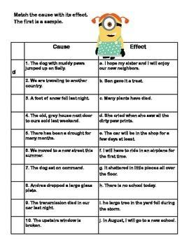 grade 3 cause and effect printable worksheets ccss ela