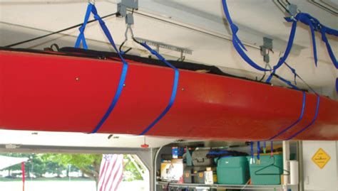 How To Hang Canoe In Garage by Holy Boat Topic How To Store Kayaks In Your Garage