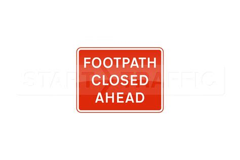 signs that a is footpath closed ahead pedestrian sign 600x450mm metal sign