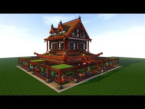 japanese house/temple speed tutorial minecraft project