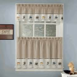 Coffee Print Kitchen Curtains Java Coffee Theme Embroidered Curtains Coffee Print Kitchen Curtains Kitchen Ideas