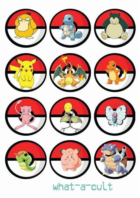 printable pokemon images free printable pokemon cupcake toppers pokemon