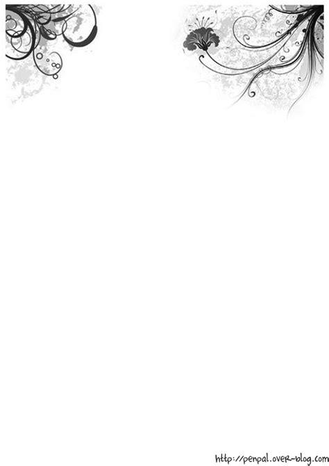 Modèles De Papier à Lettre Gratuit Nouvelle D 233 Clinaison En Noir Et Blanc Le De Finou