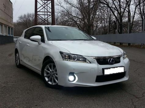 lexus ct200h white from russia