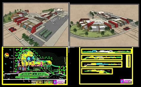 tourist resort  dwg design elevation  autocad