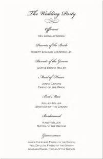 Wedding Reception Programs Examples Terynes S Blog Wedding Program Sample Wording Wedding Checklist Timeline Wedding Reception