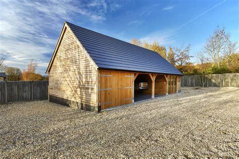 oak framed garages oak timber garages hartwood oak