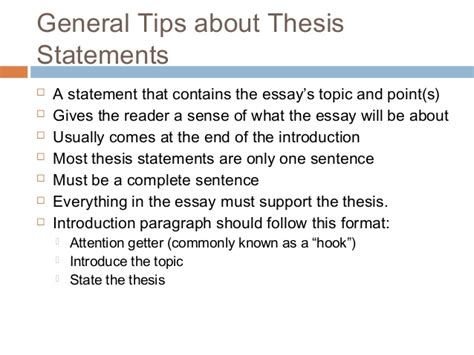 Thesis Statement For Essay by Thesis Statement Examples Alisen Berde