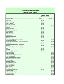 Trial Balance Sheet Template by Trial Balance Template Best Business Template