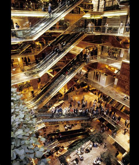 trump tower inside interior view of the trump tower where people can shop and